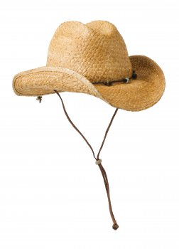 Handmade Straw Cowboy Hat with Turquoise Stones