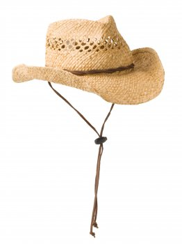 Handmade Straw Cowboy Hat with Leather Twist