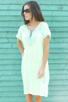Fluorescent with Turquoise Shimmer Short Sleeved Classic