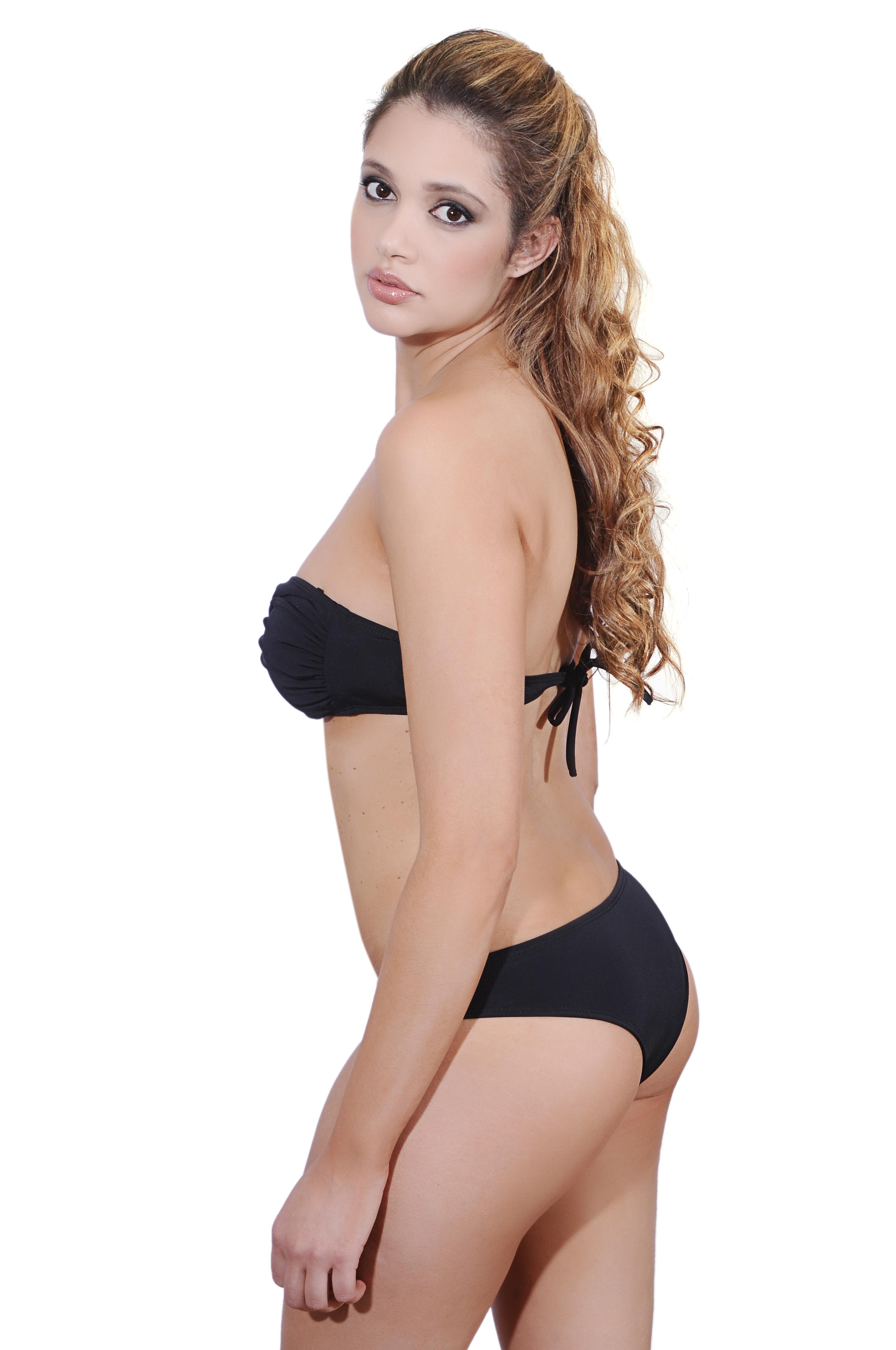 Black Bandeau Bikini 45